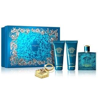 Versace Eros Men's 4-piece Gift Set