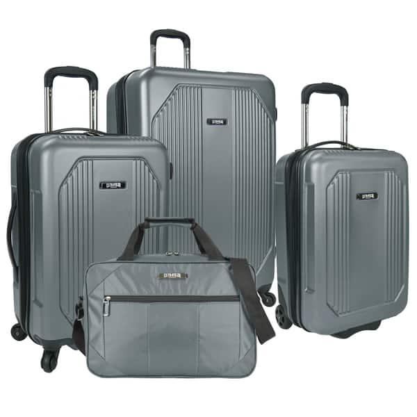 7cb78ae81 U.S. Traveler Bloomington 4-piece Hardside/Softside Spinner Luggage Set