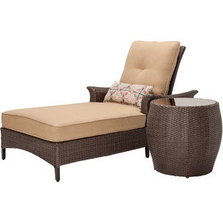 Hanover Outdoor GRAMERCY2PC Gramercy Country Cork 2-piece Chaise Lounge Set