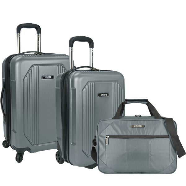 U.S. Traveler by Traveler's Choice Bloomington 3-piece Carry-on Hardside/Softside Spinner Luggage Set