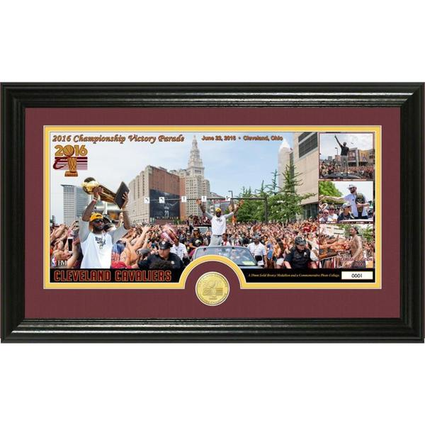 """Cleveland Cavaliers 2016 NBA Champions """"Parade"""" Bronze Coin Pano Photo Mint"""