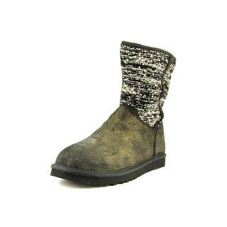 Ugg Australia Women's Lyla Classic Metallic Black Regular Suede Boots