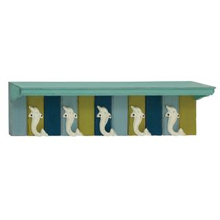 Distinctively Designed Wood and Metal Wall Shelf Hook
