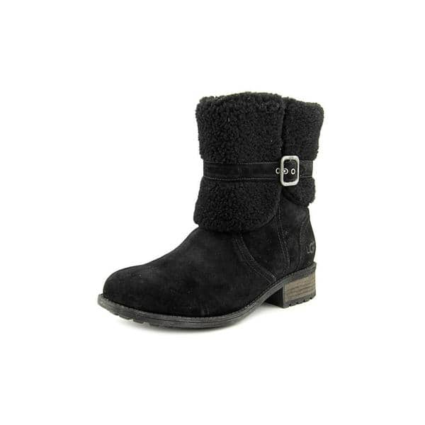 e07fe54d90d Shop UGG Australia Women's Blayre II Black Regular Suede Boots ...