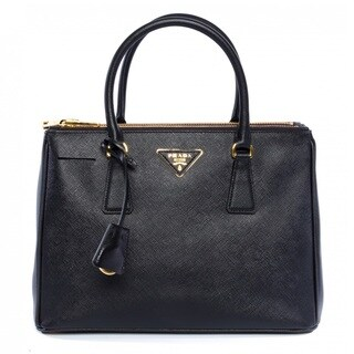 Prada Black Saffiano Leather Lux Tote Bag