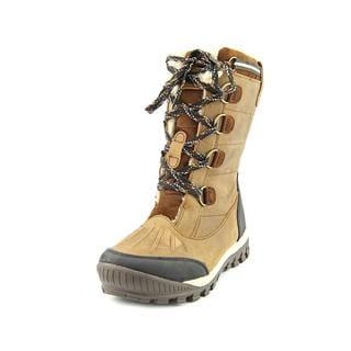 BearPaw Women's Desdemona Brown Leather Snow Boots