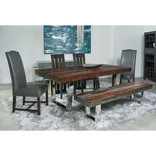Stainless Steel Base Grayson Dining Table