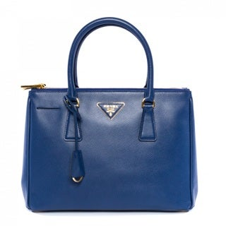 Prada Saffiano Leather Lux Tote - Cornflower Blue