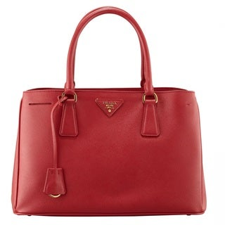 Prada Saffiano Leather Lux Red Tote Bag