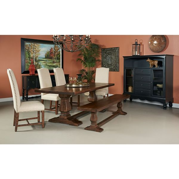 Woodbridge Distressed Brown Dining Bench   2 Cartons