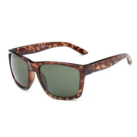 Tortoise Frame Green Grey Lens 60-millimeter Square Sunglasses