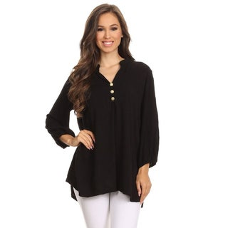 MOA Collection Women's Mandarin Collar Tunic