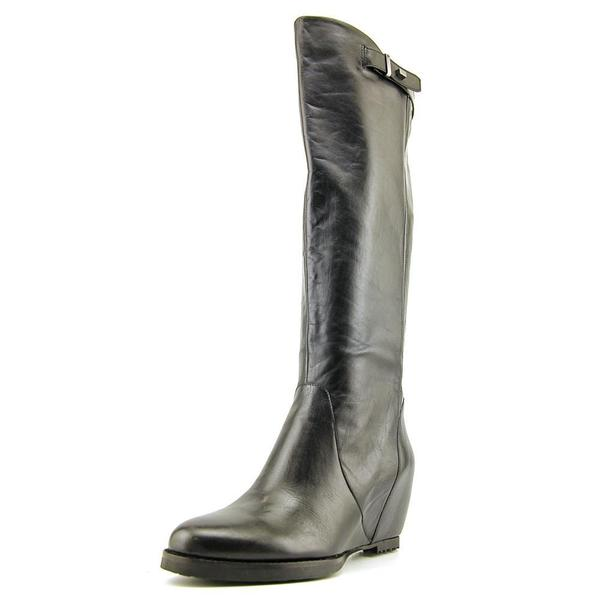 2f5accafe75 Shop French Connection Women s  Dylan  Black Leather Boots - Free Shipping  Today - Overstock - 12091670