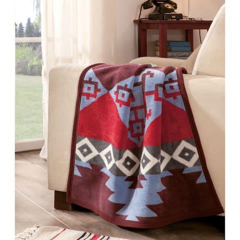 IBENA Southwestern Jacquard Baby Blanket Chama