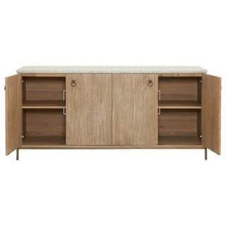 Gray Manor Autumn Beige Wood Media Sideboard