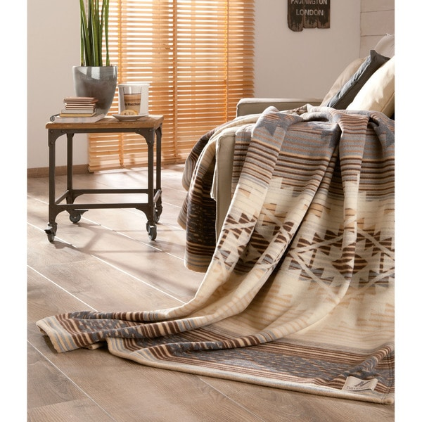 IBENA Lightweight Natural Cotton Wool Pima Oversized Throw