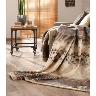 IBENA Lightweight Natural Cotton Wool Pima Oversized Throw