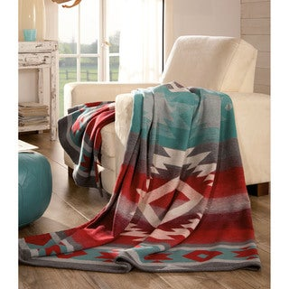IBENA Carrizo Lightweight Cotton and Wool Oversized Throw