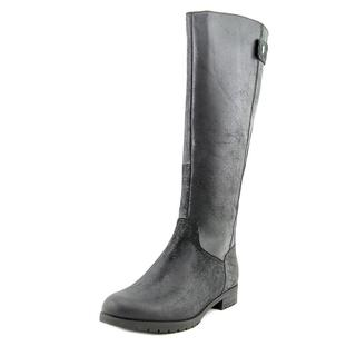 Rockport Women's Tristina Quilt Tall Waterproof Black Leather Boots