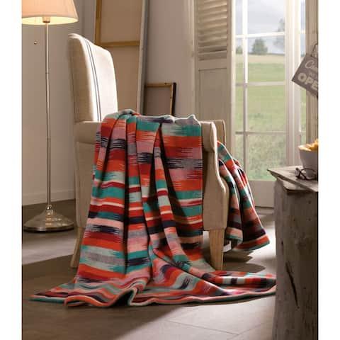 IBENA Cotton Wool Aztec Oversized Throw