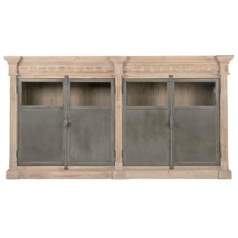 Gray Manor Nelson Cream Wood/Pine/Steel Sideboard