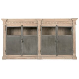 Gray Manor Nelson Cream Wood/Pine/Steel Sideboard