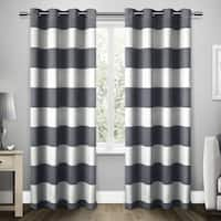 ATI Home Santa Monica Striped Curtain Panel Pair with Grommet Top