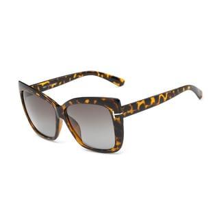 Tortoise Large Square Acetate Dark-grey-lens 52-millimeter Sunglasses