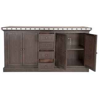 Gray Manor Wade Espresso Wood/Pine Sideboard