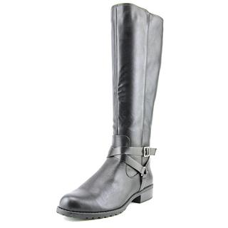 Style & Co Women's Brigyte Black Faux Leather Boots