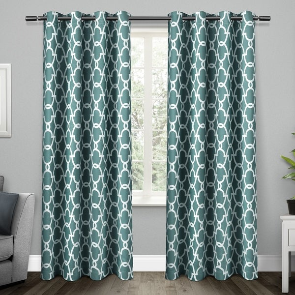 ATI Home Gates Thermal Woven Blackout Grommet Top Curtain Panel Pair