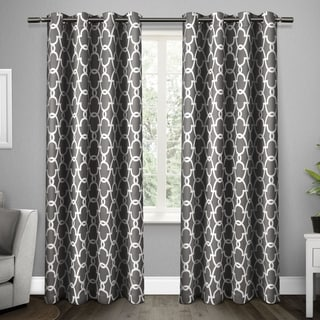ati home gates blackout thermal grommet top curtain panel pair