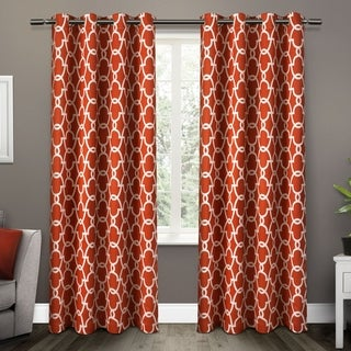 The Curated Nomad Vicksburg Thermal Woven Blackout Grommet Top Curtain Panel Pair (52x84 - Mecca Orange)