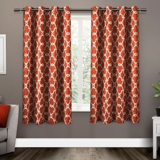 The Curated Nomad Vicksburg Thermal Woven Blackout Grommet Top Curtain Panel Pair (52X63 - Mecca Orange)