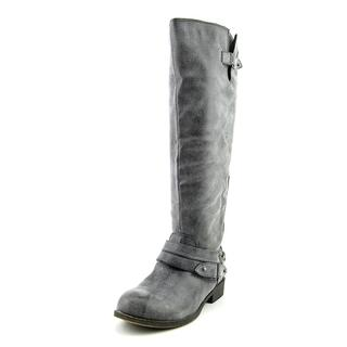 Madden Girl Women's Caanyon Grey Faux Leather Boots