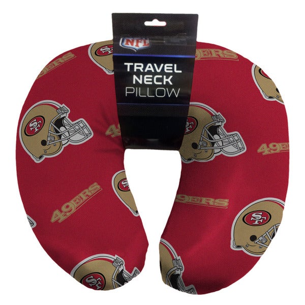 The Northwest Company NFL 117 49ers Beaded Neck Pillow