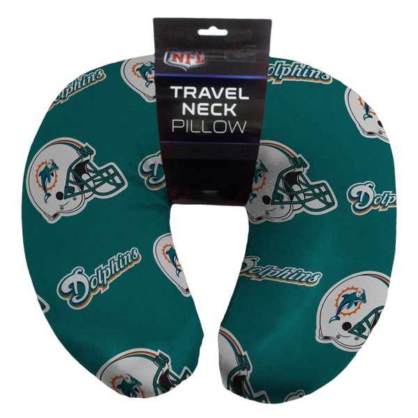 The Northwest Company NFL 117 Dolphins Beaded Neck Pillow