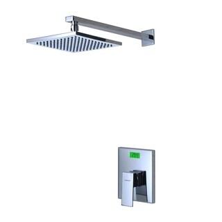 Sumerain Chrome Finish Digital Temperature Display LCD Back-Light Thermal Shower Faucet