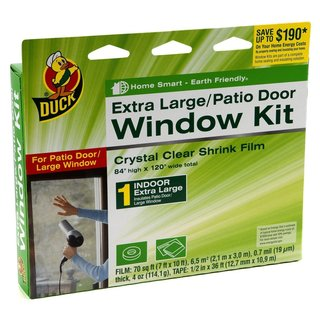 Duck Brand Indoor Window Shrink Film Insulator Kit (2-pack of Extra Large Window/Door)