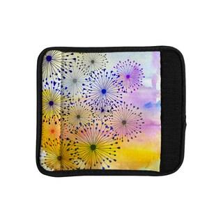 KESS InHouse Sreetama Ray 'Bursting Blossoms' Yellow Purple Luggage Handle Wrap