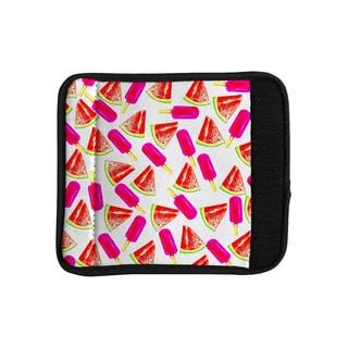 KESS InHouse Sreetama Ray 'Strawberry & Watermelon' Pink Red Luggage Handle Wrap