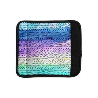 KESS InHouse Sreetama Ray 'Aqua' Cool Paint Luggage Handle Wrap