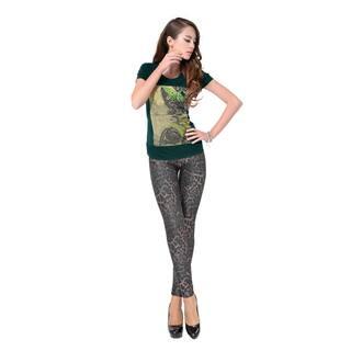 Pierre Cardin Women's Brown Cotton, Spandex Leopard Print Leggings|https://ak1.ostkcdn.com/images/products/12092233/P18956225.jpg?impolicy=medium