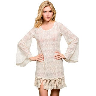 Honey Comfy's All Crochet Lace Dress with Duster Fringe