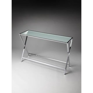 Butler Bergen Frosted Glass Console Table
