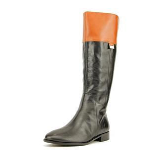 Cole Haan Women's Walden II Black Leather Knee-high Boots