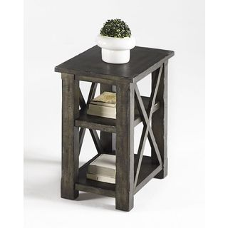 Grey Square Chairside Table