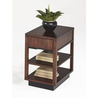 Brown Square Chairside Table