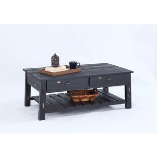 Black Veneer Rectangular Cocktail Table