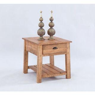 Brown Rectangular End Table